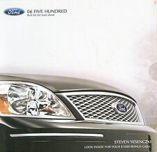 2006 Ford Five Hundred Dealer Brochure