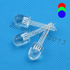 20pcs 10mm Round top Water clear Multicolor 4 pins Common Anode RGB LED light