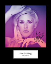 ELLIE GOULDING #2 Signed Photo Print 10x8 Mounted Photo Print - FREE DELIVERY