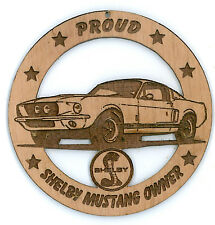 1967 Shelby Mustang Wood Ornament Engraved