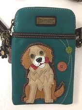 Chala Golden Retriever Cell Phone Dog Crossbody Bag Small Convertible Purse New