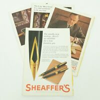 Vintage Sheaffer's Pens Ads National Geographic LOT OF 4 1960s
