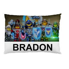 LEGO NEXO NIGHTS Personalized childrens kids bed CUSTOM DESIGNED pillow case