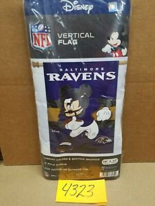 """BALTIMORE RAVENS 28""""x40"""" FLAG Mickey Mouse Disney FREE SHIPPING NFL Wincraft"""