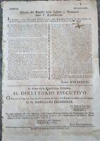 1797 34) MILANO PROCLAMA NAPOLEONE DIVIETO DI ESPORTAZIONE DI GRANO ALL'ESTERO