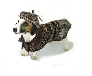 High Quality Dog Costume SHERLOCK HOUND COSTUMES - Famous Detective Dogs Outfit