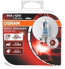 OSRAM H4 NIGHT BREAKER UNLIMITED 12V 60/55W 1x Duo Box Xenon Look 64193NBU-HCB