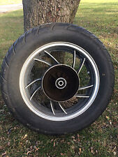 OEM 3.00x16 rear wheel w/ tire from 1981 YAMAHA XJ650 Maxim motorcycle