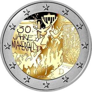 "GERMANY 2 euro 2019 ""Fall of Berlin Wall"" UNC BIMETALLIC"