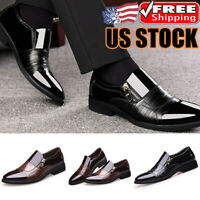 Men's Leather Dress Shoes Casual Pointed Toe Formal Business Wedding Work Shoes