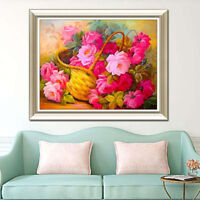 Embroidery Flower Diamond Painting Cross Stitch Mosaic Unfinished Home Decor