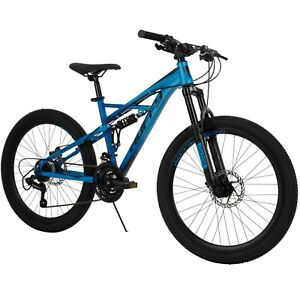 Huffy Oxide 24inch Boys Mountain Bike for Men Blue Fast Free Shipping New Arrive