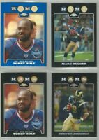 St Louis Rams 4 card 2008 Topps Chrome REFRACTORS & XFRACTORS lot-all different