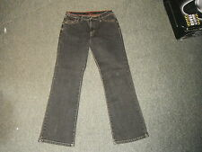 "Per Una Roma Straight Jeans Size 12 Leg 27"" Black Faded Ladies Jeans"