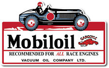 MOBILOIL RACE CAR SUPER HIGH GLOSS 5.5 INCH GARGOYLE MOBILE GAS DECAL STICKER