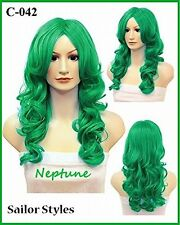 Wigs2you Halloween Costume Sailor Neptune Cosplay Wig C-042 C-Cyan
