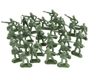 """144 Assorted 2"""" Green Army Men Soldiers Classic Action Figures In Bag"""
