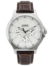Casio MTP-V300L-7A Multi-Dial Brown Leather Men's Watch
