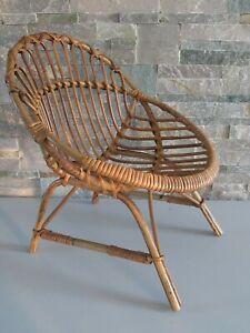 Petit Fauteuil chaise enfant osier rotin, siège  VINTAGE 60'