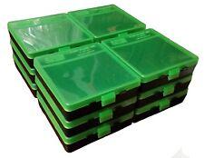 NEW MTM 100 Round Flip-Top 40/45/10MM Ammo Box - Green Black (12 Pack)