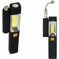 New 2 in 1 Magnetic Extendable Magnet Pick Up Tool With 3W COB LED Torch Light