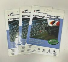 "Lot of 3 X-Style Universal 14-15"" (M) Standard Keyboard Protectors - Ships Today"