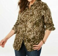 Women's Plus Size 22/24, 1X Polyester Moleskin Tunic Length Top Retail $41.99