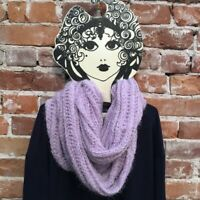 INC Lt Lilac Purple Chenille Textured Loop Fashion Soft Infinity Scarf O/S New