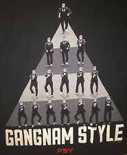 Large Black Psy Gangam Style TShirt Triangle Dance Positions Must Have Item