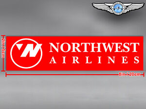 NORTHWEST NORTH WEST AIRLINES LOGO RECTANGULAR DECAL / STICKER