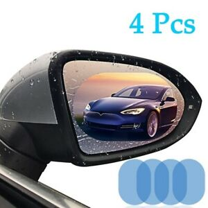 4Pcs Car Rearview Mirror Protective Film HD Anti-Fog Nano Coating Rainproof Film