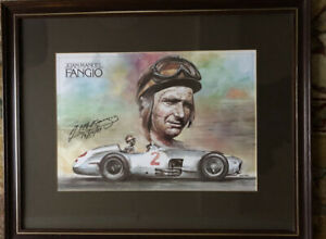 Juan Manuel Fangio Signed Limited Edition Print.