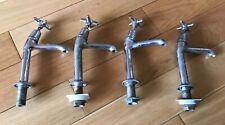 2x Vintage chrome taps