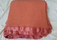 American Woolen Co blanket dark pink 57 x 53