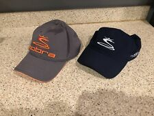 Lot of 2- Cobra Gray with Orange Hat & Cobra Navy with White Hat