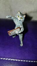 Vienna Bronze Singing Cat