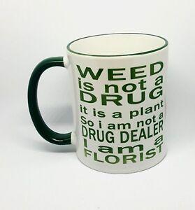 CANNABIS COFFEE MUG FUNNY RUDE DRUGS NOVELTY BIRTHDAY GIFT CHRISTMAS PRESENT CUP
