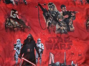 Star Wars Red Twin Sheet Set 2pc Disney Jay Franco SOFT XLNT The Force Awakens