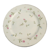 4 Vtg Sheffield Rambling Rose China Salad Plates Pink Blue Floral  Replacements