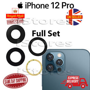 iPhone 12 Pro Replacement Rear Back GLASS Camera Lens Full Set with Adhesive