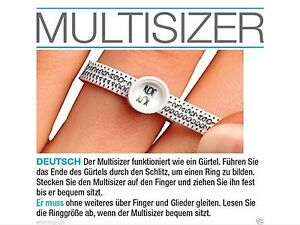 Ringmassband Ringmass Ringweite Ermitteln,Ringgrösse messen Multisizer 1€!!