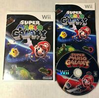 Super Mario Galaxy Nintendo Wii 2007 COMPLETE Fast Shipping 3D