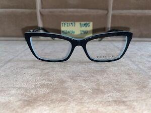 Tiffany & Company Black/Blue Eyeglasses TF2137 8055 5216 140 NO CASE
