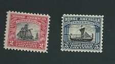 Scott #620-21, 1925 Norse American Issue, Mint Hinged Fine