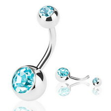 Surgical Steel Navel Rings Crystal Belly Button Ring Bar Piercing Jewelry Beauty