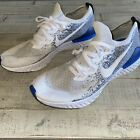 NIKE Epic React Flyknit 2 Blue/White Shoes Sneakers Mens SIZE 13 Good Condition