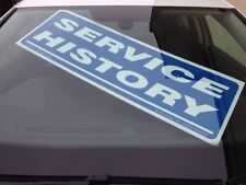 x 5 Car For Sale Service History Correx Signs Windscreen Display Red or blue