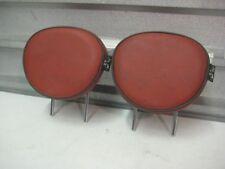 2007-2010 MINI COOPER OEM R55 R56 BACK SEAT REAR HEAD RESTS PAIR RED REDWOOD