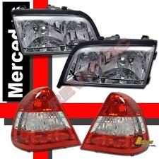 94-00 Mercedes Benz W202 C220 C230 C280 Chrome Headlights & Tail Lights Combo