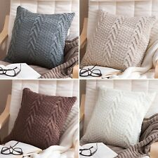 New Home Decor Sofa Knitted Pillow Cushion Cover Herringbone Pattern 45x45cm